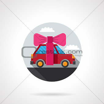 Car gift flat colorful vector icon