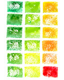 Watercolor square colorful backgrounds