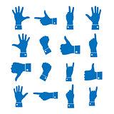 Icons hand, vector illustration.