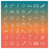 Medical icons, vector illustration.