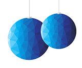 Blue polygon christmas decoration
