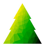 Vector polygon christmas tree