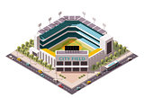 Vector isometric baseball arena