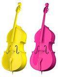 Two Cello bright colors isolated