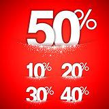 Winter Discounts Concept