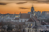 Vilnius, Lithuania:  Church of St. Catherine in the sunset