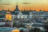 Vilnius, Lithuania: Church of Holy Spirit in the Sunset