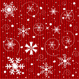 Seamless Christmas Snowflakes Background