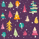 Winter, Merry christmas, seamless pattern