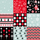 Merry christmas, seamless pattern set background