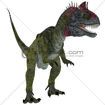 Cryolophosaurus on White
