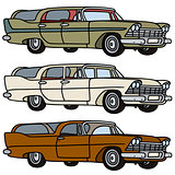 Old american station wagons