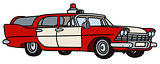 Old fire patrol car