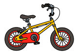 Yellow child bike