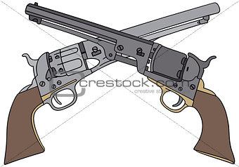 Classic Wild West handguns