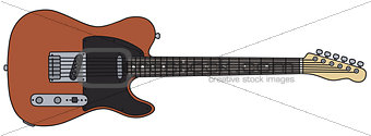 Classic red electric guitar