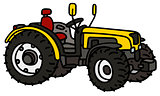 Yellow open tractor