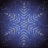 Christmas snowflake on a colorful background.