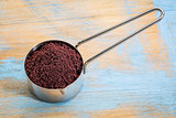 scoop of acai berry powder