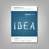 Brochures book or flyer with paper folded inscription template