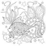 doodle fish and mandalas