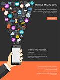 mobile marketing concept