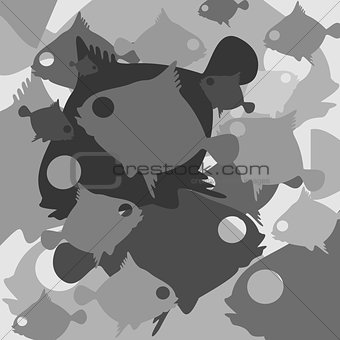 Fish vector background