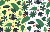Transparent seamless green pattern