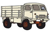 Old white terrain truck