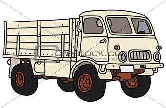 Old white terrain truck