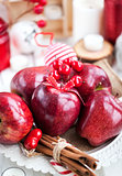Christmas сomposition with red apples