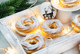 Cream puff rings (choux pastry)