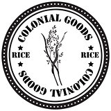 Colonial goods - rice