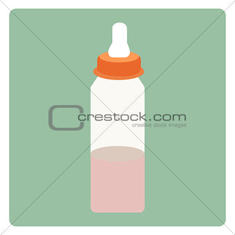 Baby milk in bottle