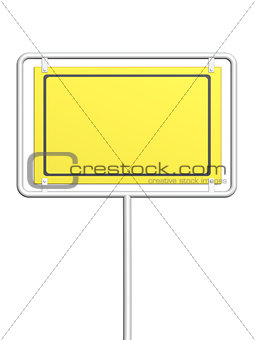 3d information sign of yellow color