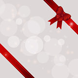 Gift background with ribbons and bow