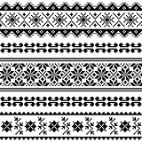 Ukrainian, Belarusian folk art embroidery pattern or print in black