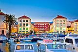 Prokurative square in Split evening colorful view
