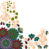 Pattern with beautiful stylized flowers
