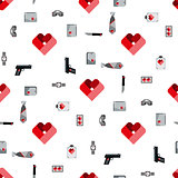 St. Valentines Day Symbols mens Accessories Pattern