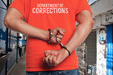 Prisoner in handcuffs