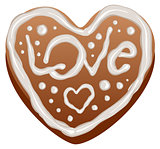 Heart shape gingerbread cakes