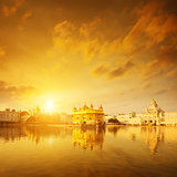 Golden Temple India sunrise