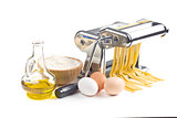 pasta machine with ingredients