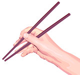 Chopsticks in hand
