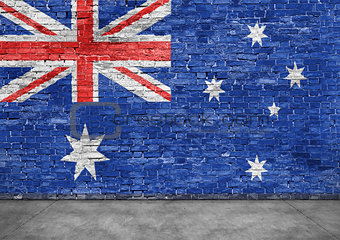 Australian flag and foreground