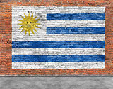 Flag of Uruguay and foreground