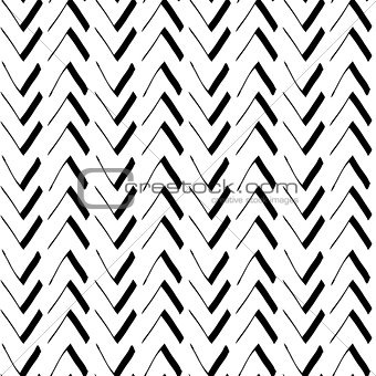 Abstract seamless hand-drawn vector geometric background