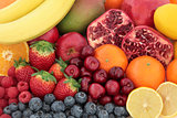 Fresh Mixed Fruit Background