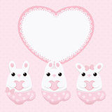 Vector flat creative bunny card